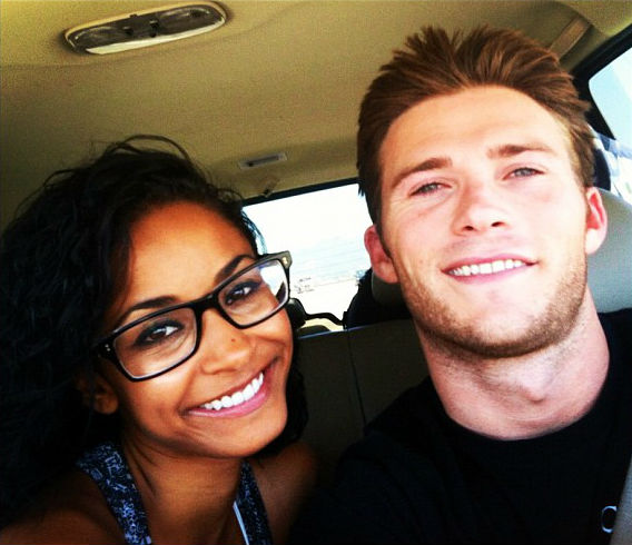 Scott Eastwood with then girlfriend Jewel Brangman