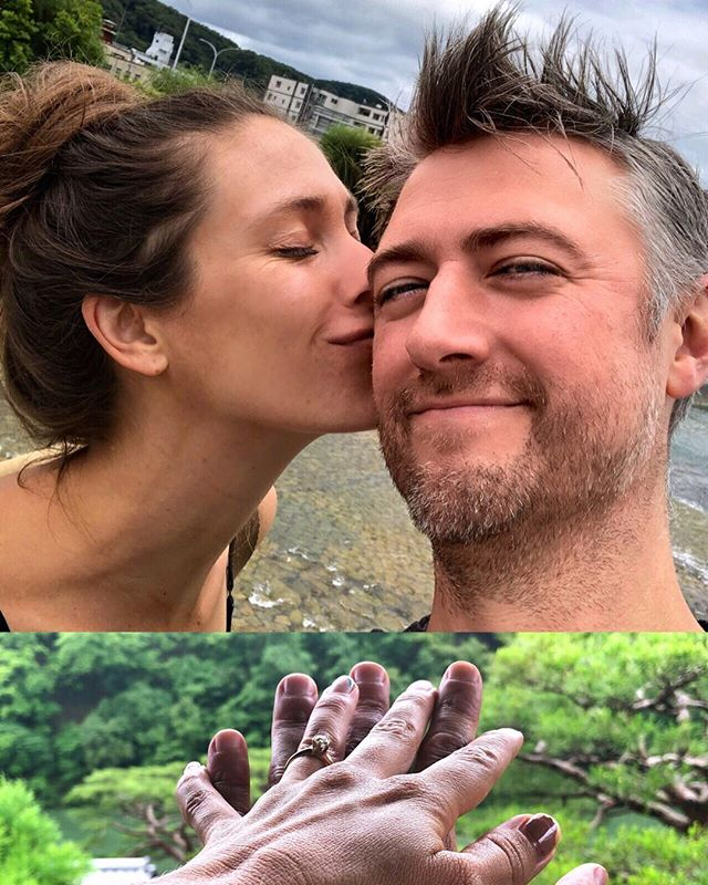 Sean Gunn and Natasha Halevi engagement