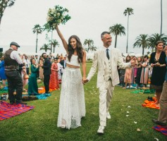 Sean Gunn and Natasha Halevi wedding