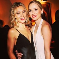 Spencer Grammer with her sister Greer Grammer