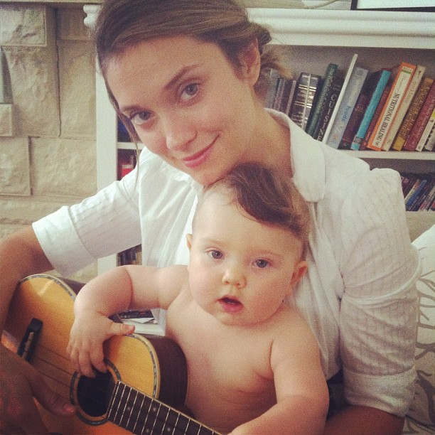 Spencer Grammer with son Emmett Emmanual Hesketh when he was a baby