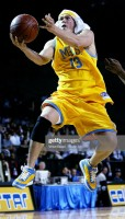 Steve Howey playing basketball