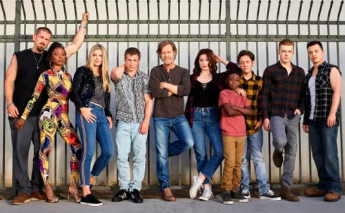 Steve Howey with Shameless Cast