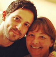 Steve Kazee with his mom Kathy Kazee