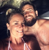 Tamzin Outhwaite with Tom Child