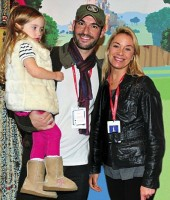 Tamzin Outhwaite with Tom Ellis & Florence
