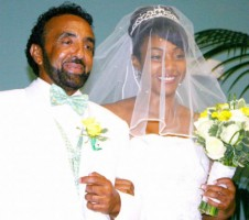 Tiffany Haddish with her father at her wedding
