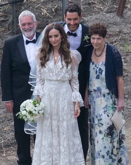 Tom Ellis & Meaghan Oppenheimer wedding, Tom's parents in attendence