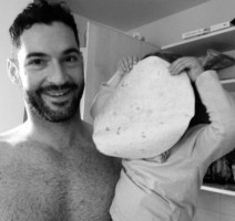 Tom Ellis with daughter