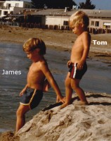 Tom Franco childhood- with James