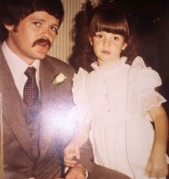 Zoe McLellan with her father Zachary mclellan